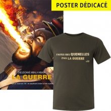 "lot ""la guerre"" t-shirt +poster collector dédicacé"