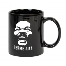 Mug noir Ferme-la !