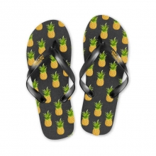 Tongs Ananas Noir