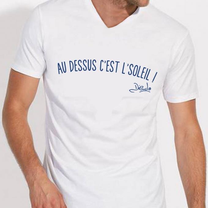 """T-shirt """"au dessus c'est le soleil """" édition 2019"""