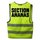 "Gilet jaune ""Section ananas"""