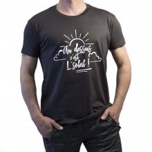 """T-shirt """"Au dessus c'est le soleil !"""" gris"""