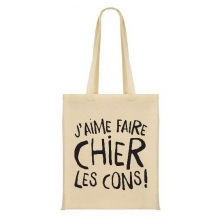 "Sac shopping ""J'aime faire chier les cons !"""